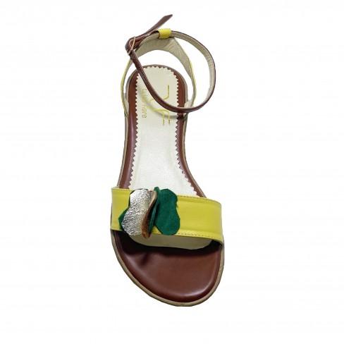 Sandale FIORELA galben coniac