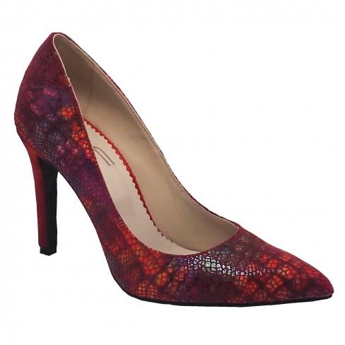 Pantofi SIPICA rosu print
