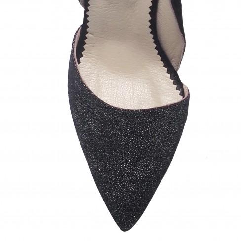 Pantofi TULIPANO negru/print