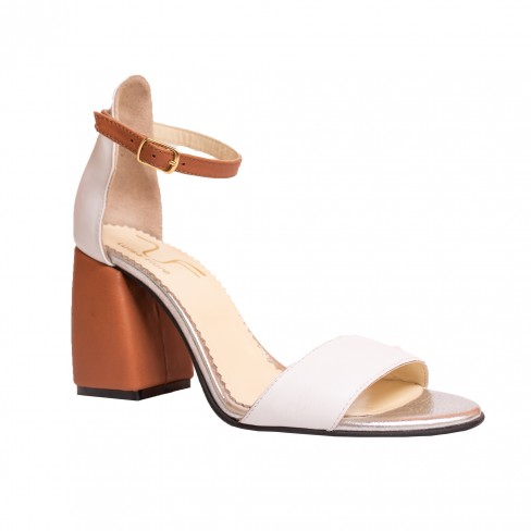 Sandale LIMONADE alb / coniac