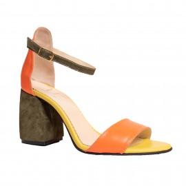 Sandale LIMONADE portocaliu / verde