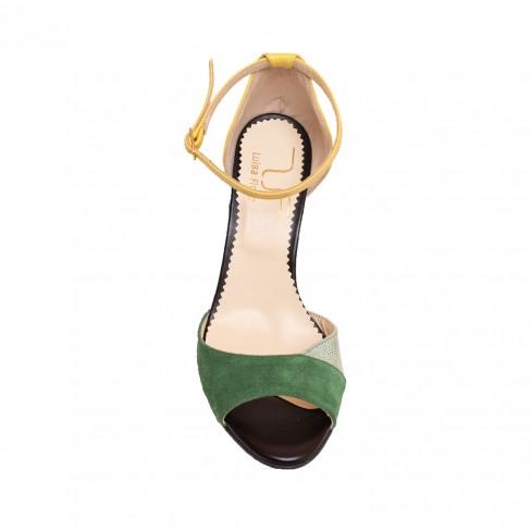 Sandale MARY verde / galben