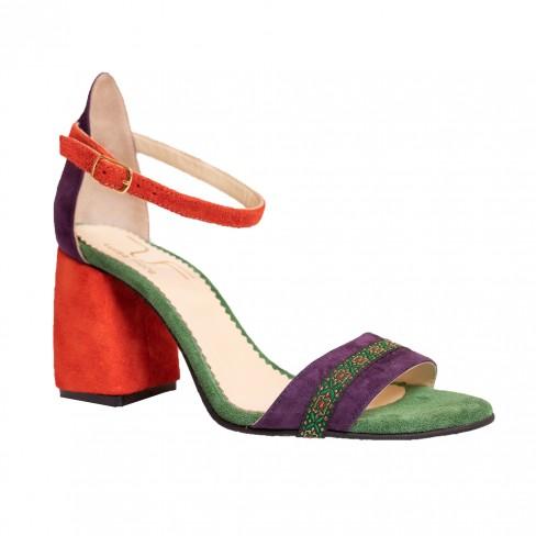 Sandale REGISTRO portocaliu / mov