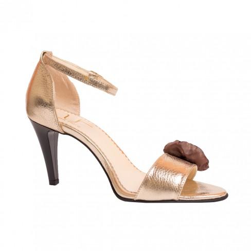Sandale ZAMBILA bej auriu
