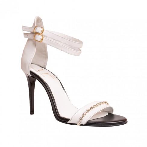 Sandale BRANDUSA alb